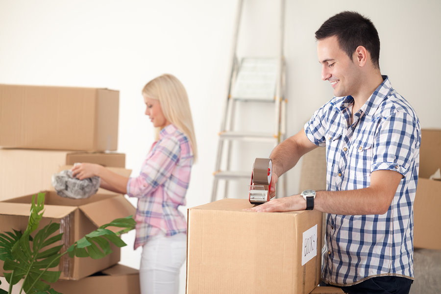 Moving companies provide professional packing and unpacking services