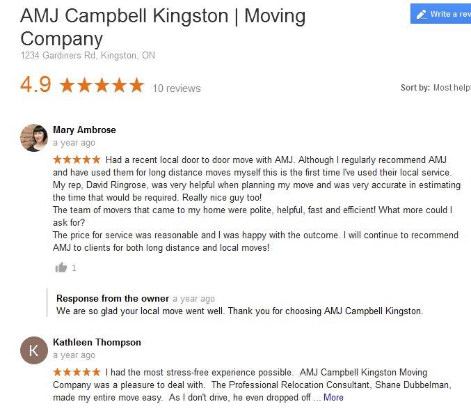 AMJ Campbell Kingston – Moving reviews
