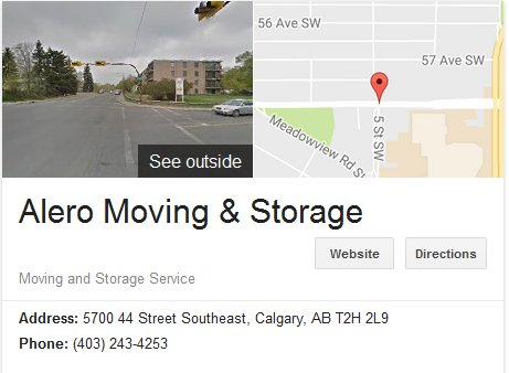 Alero Moving and Storage - Location