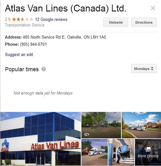 Atlas Van Lines Canada - Location