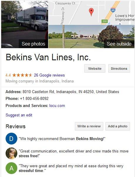 Bekins Van Lines – Location