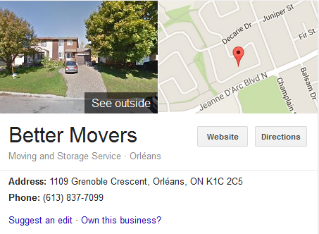 Better Movers – Location
