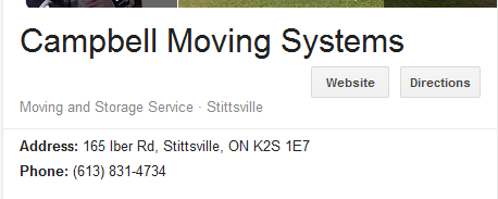 Campbell Moving Systems – Location