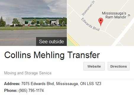 Collins Mehling Transfer – Location