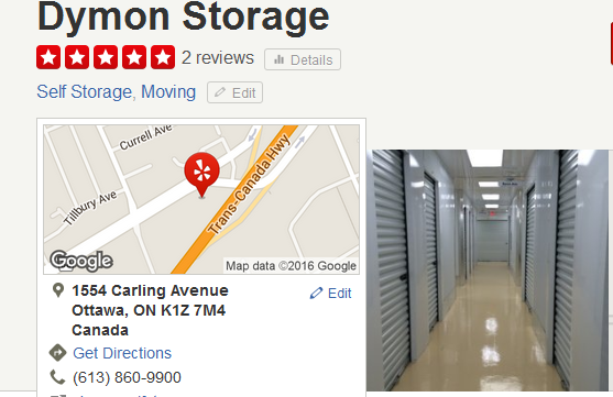 Dymon Storage – Location