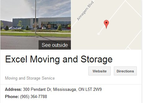 Excel Moving and Storage – Location