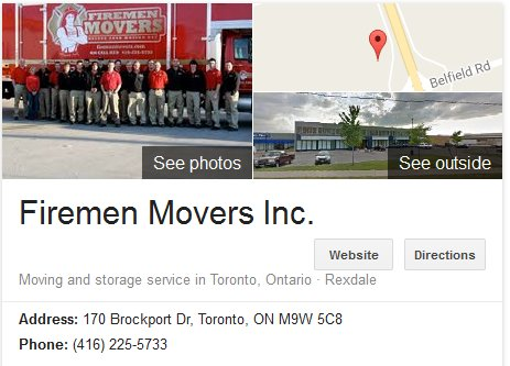 Firemen Movers – Location