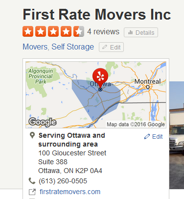 First Rate Movers – Movers Location