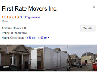 First Rate Movers location