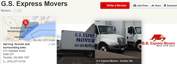 GS Express Movers Location