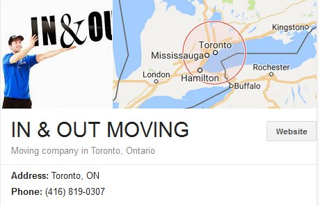 In and Out Moving – Location