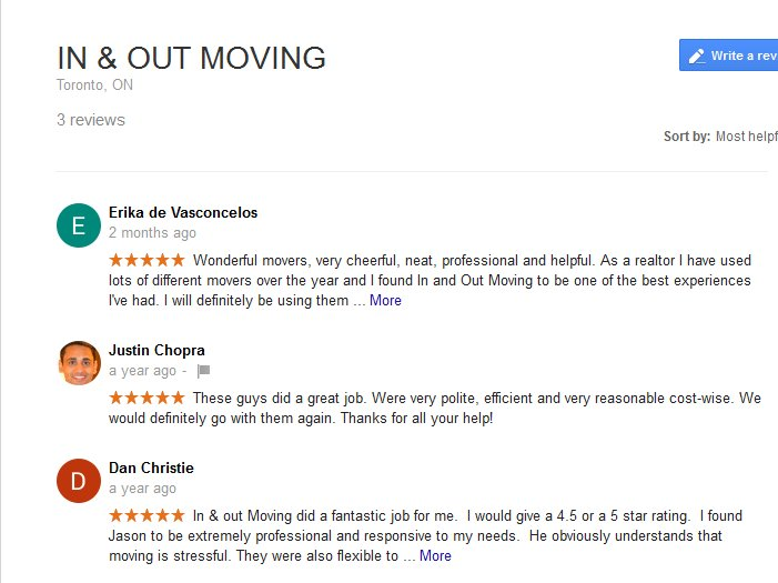 In and Out Moving – Moving reviews