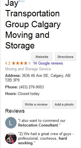 Jay's Transportation Group – Google ranking