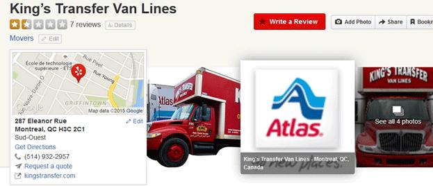 King's Transfer Van Lines Location