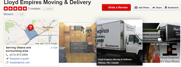 Lloyds Empire Moving Services Location
