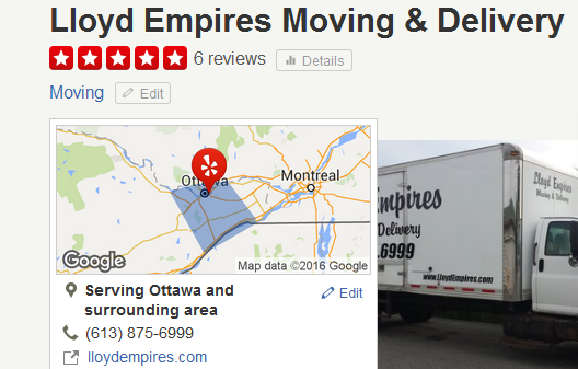 Lloyd Empires Moving & Delivery – Location