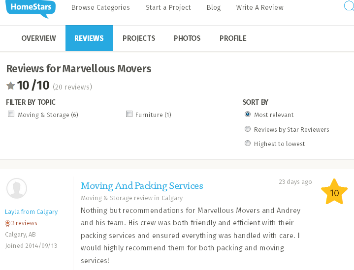 Marvelous Movers – Homestars review