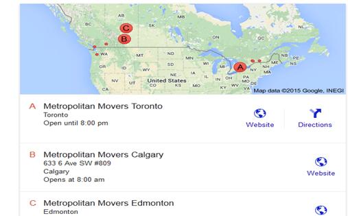 Metropolitan Movers - Location