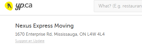 Nexus Express Moving - Location