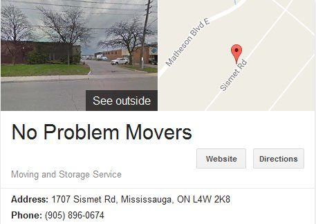 No Problem Movers – Location
