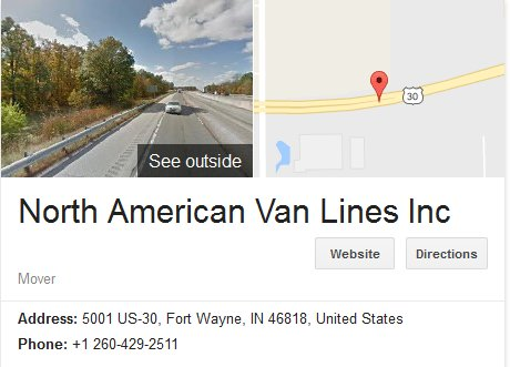 North American Van Lines – Location