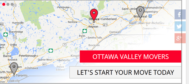 Ottawa Valley Movers Location