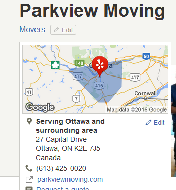 Parkview Moving - Location