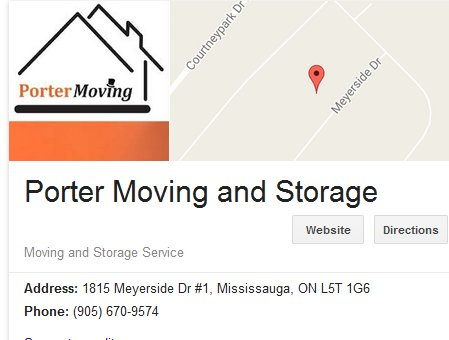 Porter Moving and Storage – Location