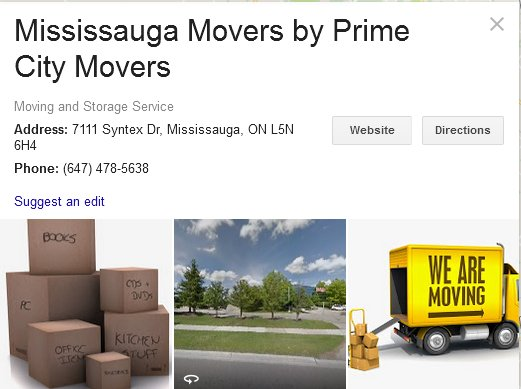 Prime City Movers - Location