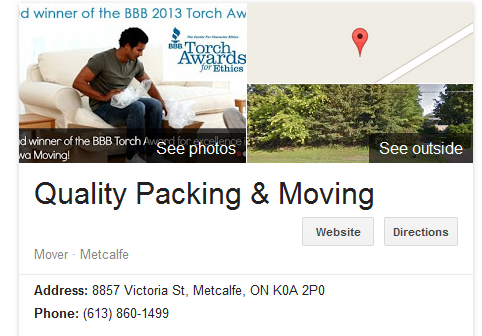 Quality Packing & Moving - Location