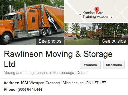Rawlinson Moving and Storage – Location