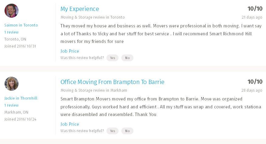 Smart Movers Hamilton– Moving reviews