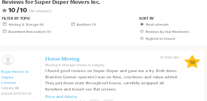 Super Duper Movers – Homestars review
