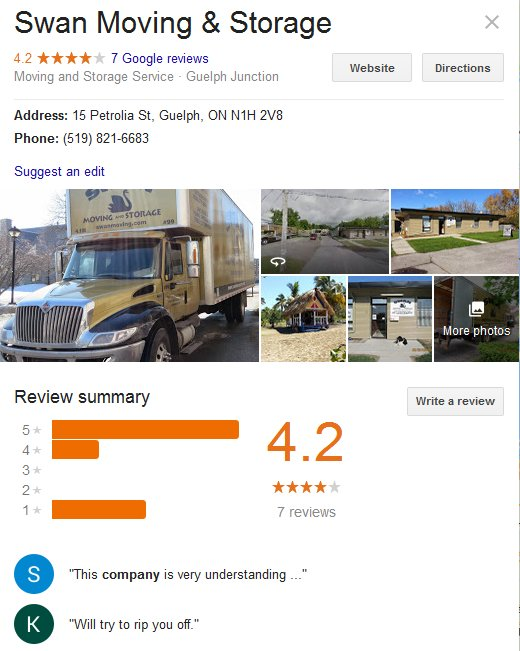 Swan Moving and Storage – Location