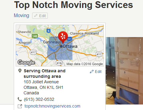 Top Notch Moving Services – Location