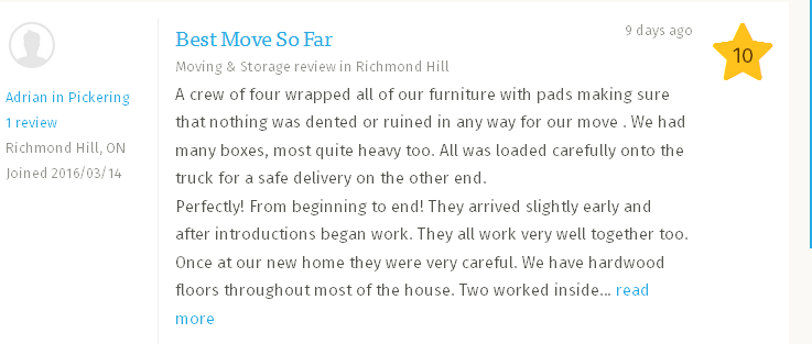 Viktoria Professional Movers – more Hometars reviews
