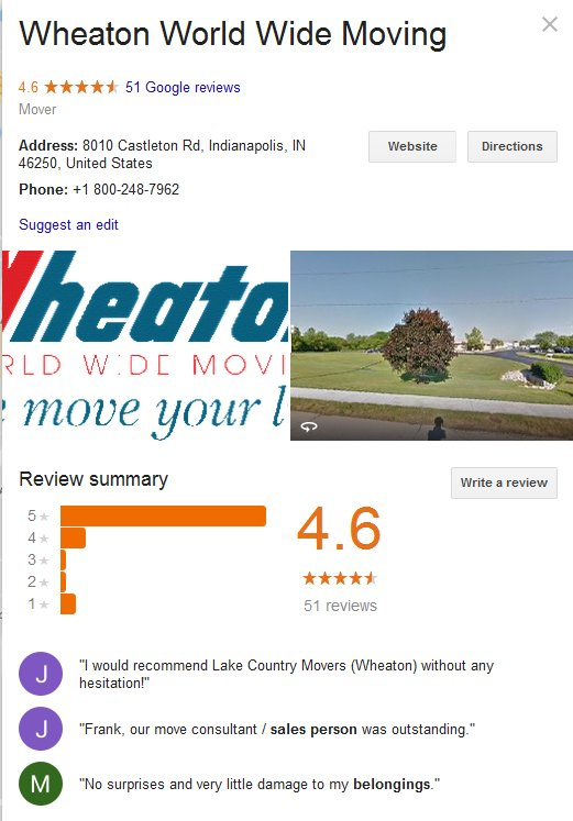 Wheaton Worldwide Moving – Location and reviews