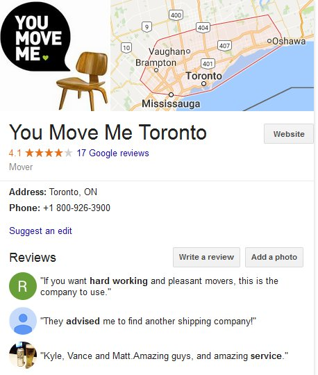 You Move Me – Location and reviews