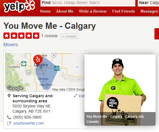 You Move Me –Yelp ranking