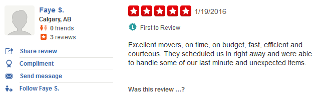 You Move Me – Yelp review