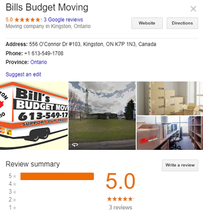 Bill Budget Moving