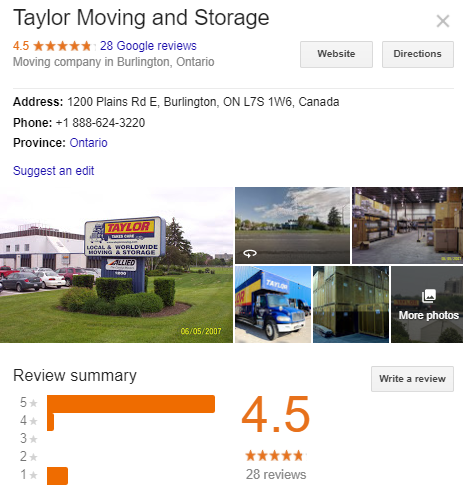 Taylor Moving and Storage