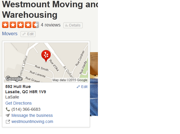 Westmount Moving - Location