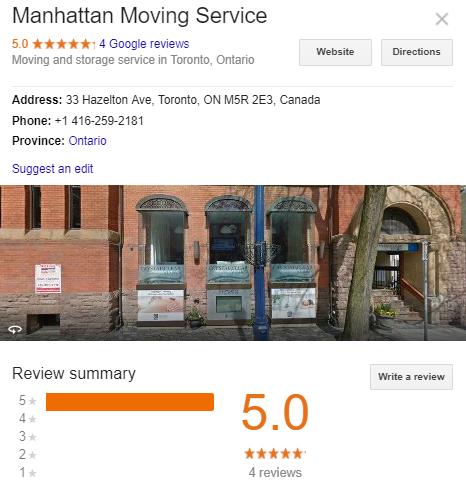 Manhattan Moving Service