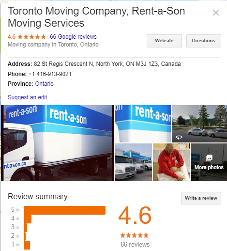 Rent-A-Son Moving Services