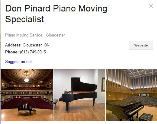 Don Pinard Piano Moving Specialist - Location