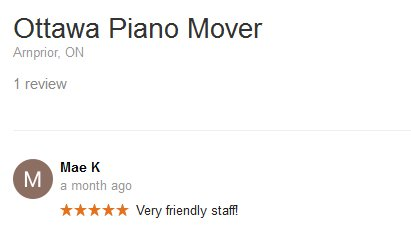 Ottawa Piano Mover – Moving review