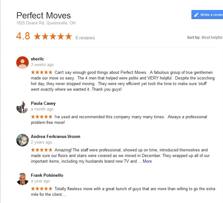 Perfect Moves – Moving reviews