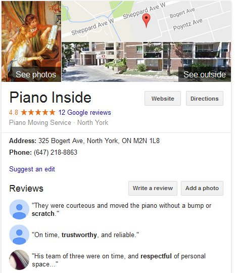Piano Inside – Location and reviews
