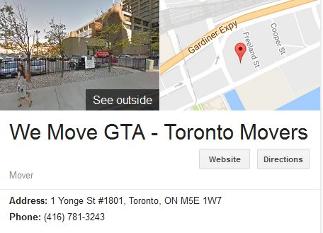 We Move GTA - Location